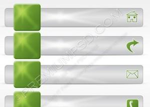 Ecology Icon Menu Bar Vector Set – PSD Download
