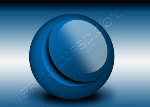 Glossy Blue Sphere Abstract Design – PSD Download