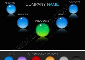 Glossy Colourful Crystal Balls – PSd Download