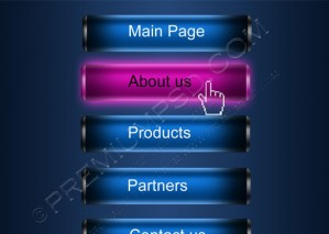 Glossy XML One Level Menu – PSD Download