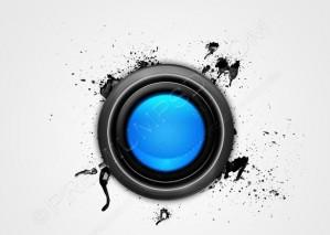 Grunge & Hi-Tech Blue Button – PSD Download
