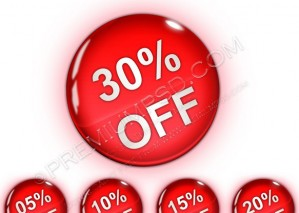 High Glossy Realistic Discount Badges – PSD Download