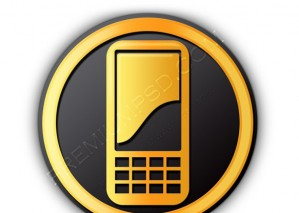 Mobile Phone Button Icon – PSD Download