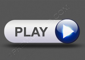 Music Play Button For Web Design Element – PSD Download