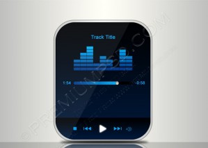 Portable Media Player Interface On The White Background – PSD Download