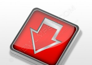 Red 3d Button – PSD Download