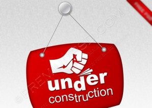 Red Hanging Under Construction Sign – PSD Download