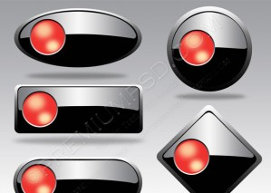 Vector Buttons For Web Design – PSD Download