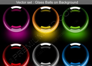 3D Glossy Balls Vector set – PSD Download