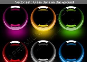 3D Glossy Balls Vector set – PSD Download