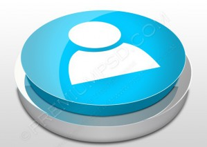3D Blue User Icon – PSD Download
