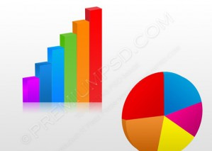 3d Business Charts Vector – PSD Download