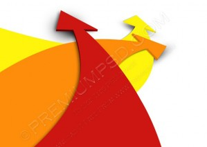 3d Colorful Arrows On White Background – PSD Download