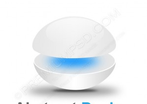 3d Glossy Sphere Blue And White – PSD Download