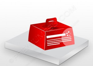 3d Red vector box – PSD Download