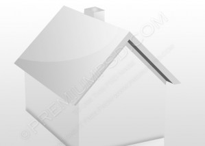 3d vector illustration of a small house – PSD Download