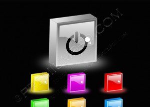3d Power Web Buttons – PSD Download