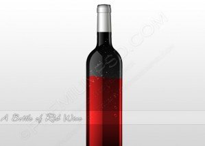 A Bottle Of Red Wine – PSD Download