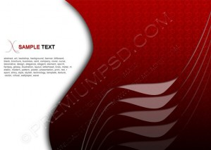 Abstract Business Background Red Metallic Vector – PSD Download