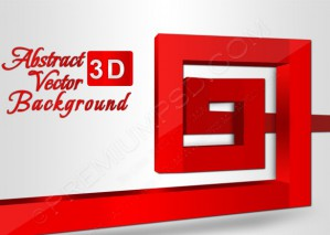 Abstract Red 3D Spiral Background – PSD Download
