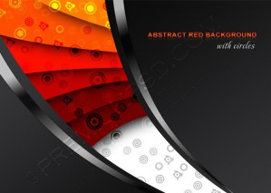 Abstract Red Background With Circles – PSD Download
