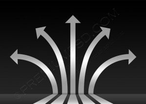 Abstract Silver 3D Glossy Arrows Background – PSD Download