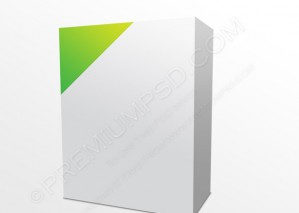 Blank Box With Green Corner – PSD Download
