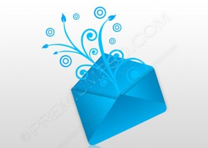 Blue E-mail Concept Swirly – PSD Download