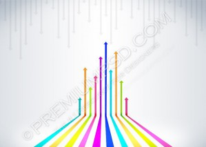 Colored Arrows Vector Background – PSD Download