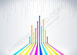 Colored Arrows Vector Design – PSD Download