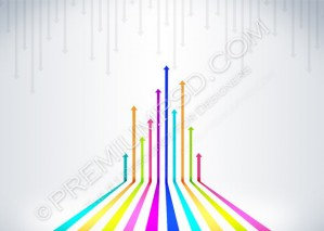 Colored Arrows Vector – PSD Download