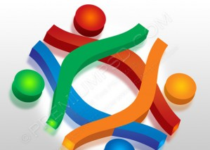 Community Concept Abstract Human sign – PSD Download