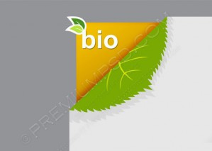 Corner on Paper With Bio Sign – PSD Download
