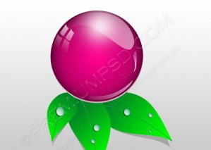 Crystal Pink Water Icon – PSD Download