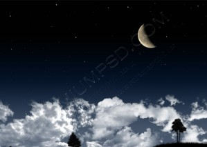 Dark Night Clouds Wallpaper – PSD Download