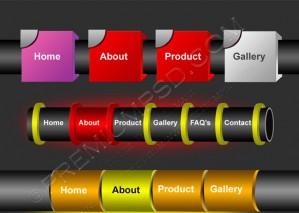 Editable Website Vector Buttons – PSD Download