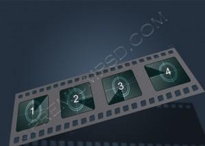 Filmstrip Vector Illustration – PSD Download