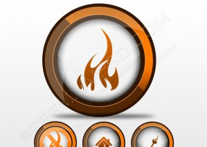 Fire Icon Set Vector Illustration – PSD Download