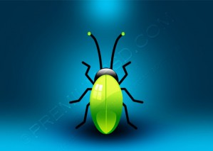 Green Glossy Vector Jewel Bug – PSD Download