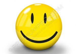 Yellow Happy Smiley 3D – PSD Download