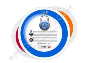 Login Panel Security Window – PSD Download