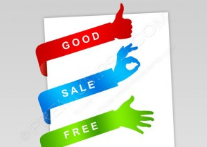 Paper Tags Sale Hands – PSD Download