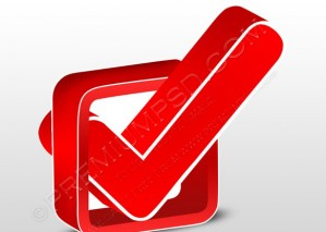 3D Red check box Icon – PSD Download