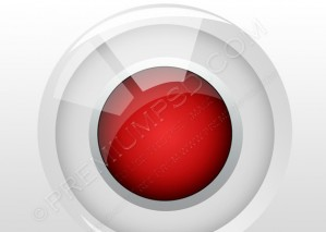 Red Glass Button – PSD Download