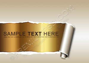 Ripped Paper Displaying A Golden Background – PSD Download