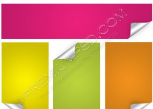 Set of Blank Vector Stickers – PSD Download
