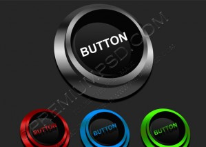 Shiny Round Button – PSD Download