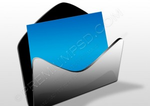 Silver Mail Icon Isolated On White – PSD Download