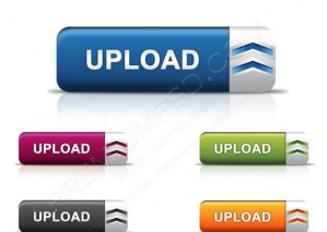Sleek Look Upload Buttons – PSD Download