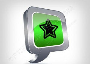 Star Metallic 3D Cibrant Balloon Icon – PSD Download